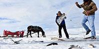 Buz Üstünde Balık Avı